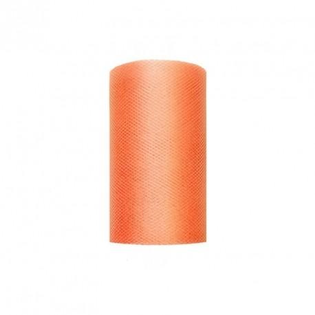 Tulle voiture mariage orange