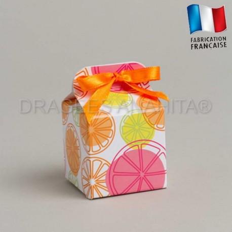 Cube à dragées thème  provence