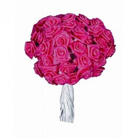 Mini Rose ourlée fuchsia X 12