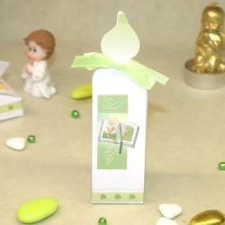 Contenant communion Bible bougie vert