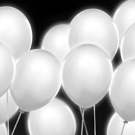 5 Ballons à led blanc