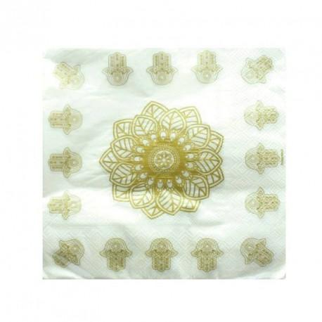 20 serviettes de table Oriental Or