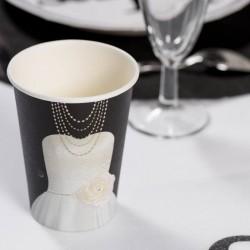 10 gobelets noir Mrs thème Mr & Mrs