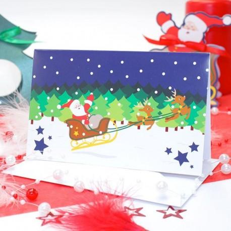 Carte d'invitation père Noël + enveloppe