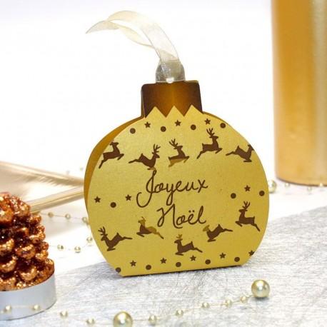 """Boule """"Joyeux Noël"""" Or"""