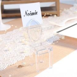 Marque place Chaise transparente pour mariage original