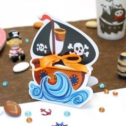 Contenant dragées Bateau de Pirate