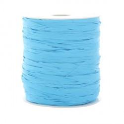 Ruban raphia bleu