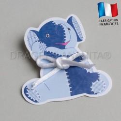 étiquette à  dragées éléphant junior