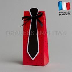 Pochette à dragées cravatte