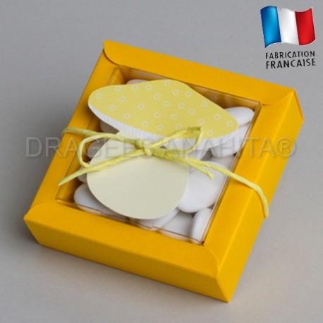 boite à dragées champignons jaune