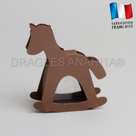 dragées baptême cheval chocolat