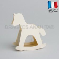 dragées baptême cheval ivoire