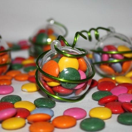 Boule à dragées transparente 4 cm