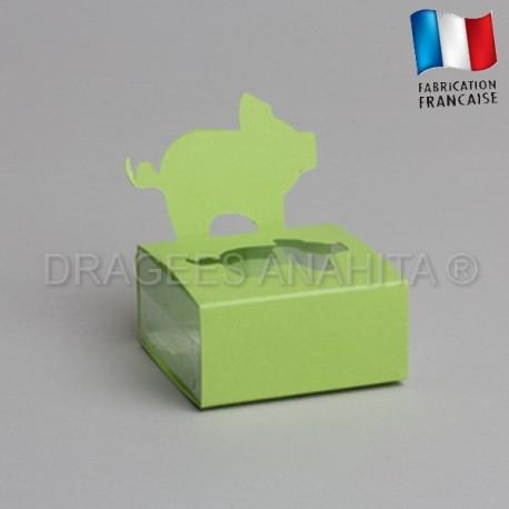 Dragées bapteme porcinet  vert