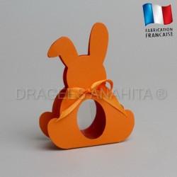 Dragées bapteme lapin orange