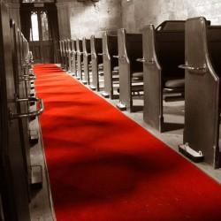 Tapis de salle rouge pour mariage