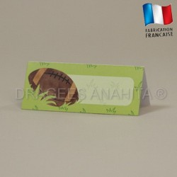 Carte de table rugby