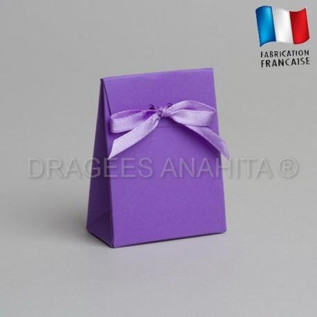 Mini pochon à dragées lilas