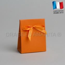 Mini pochon à dragées orange