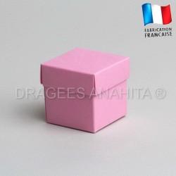 Cube uni à dragées rose