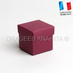 Cube uni à dragées bordeaux