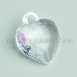 Coeur en plastique pour dragées x12