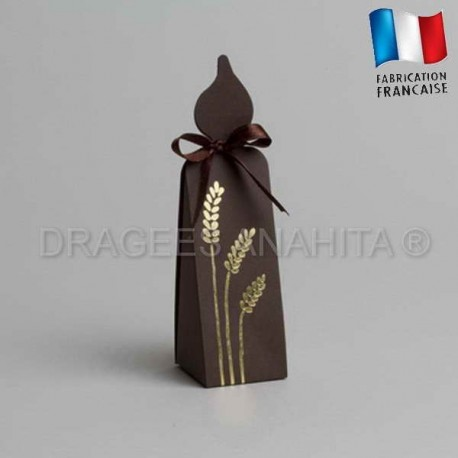 Contenant communion bougie chocolat