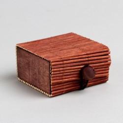 Contenant dragées bambou chocolat