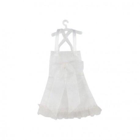 Robe à dragées blanche X 5