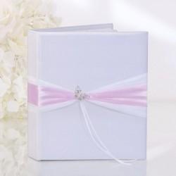 Livre d'or mariage papillon strass