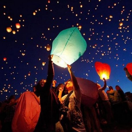Sky lanterne multicolore X 10