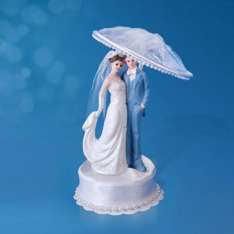Figurine gâteau de mariage ombrelle