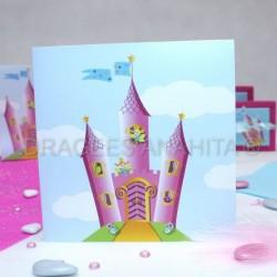 Faire part chateau de princesse