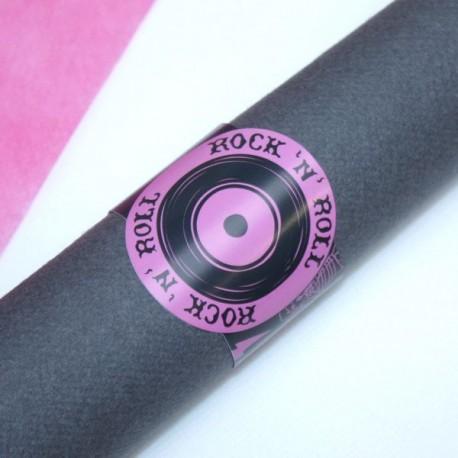 Rond de serviette Rock n Roll Fuchsia
