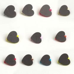 6 ardoises coeur avec pince