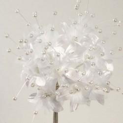 Fleur Perlée Blanche