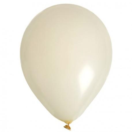 10 Ballons de baudruche ivoire