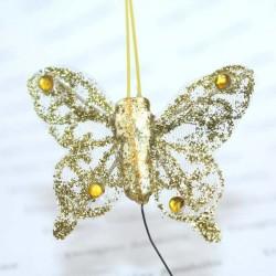 Papillon Or pailleté