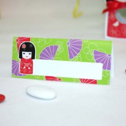 Marque place Kokeshi rouge