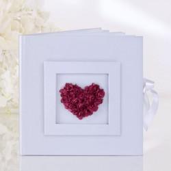 Livre d'or mariage rose rouge