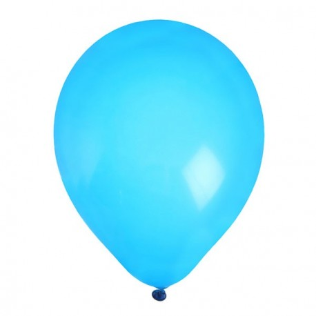 8 Ballons gonflables turquoise 25 cm