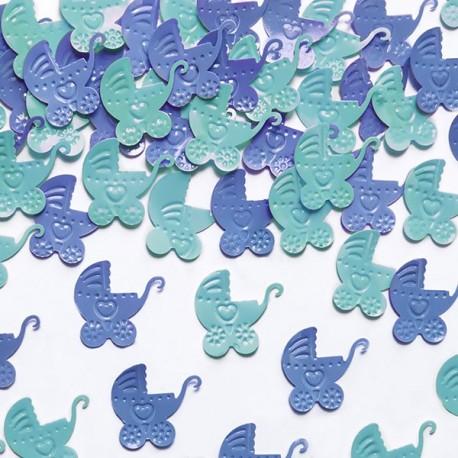 Confettis de table berceau bleu