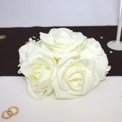 Petit Bouquet de fleurs centre de table ivoire
