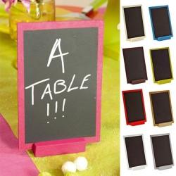 Ardoises centre de table menu