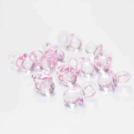 Tétine en plastique rose pour dragées