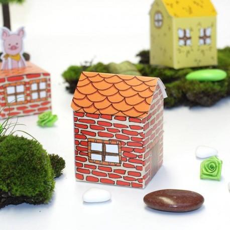 Contenant à dragées maison petit cochon en brique