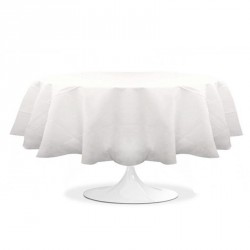 nappe ronde mariage blanche pas cher