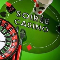 6 sets de table thème poker