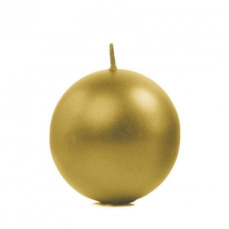 Bougie boule Or 6cm